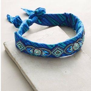 "Anthropologie Deepa ""Ocean"" bandana headband."